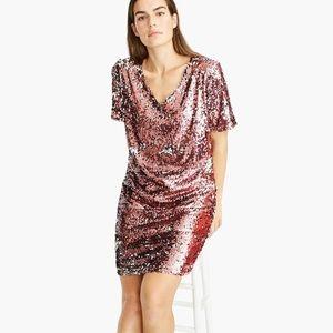 New J Crew universal standard pink sequin dress M